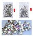 1440 Unids/pack Rhinestoens SS3-SS40 Crystal Clear AB Rhinestones Del Clavo Para Uñas 3D Decoración Del Arte Del Clavo Gemas