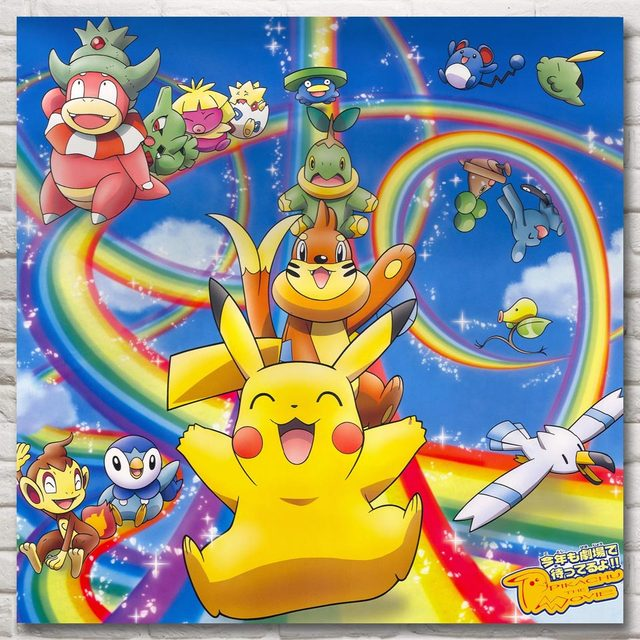 foocame pokemon xy anime game monster pikachu art silk poster print