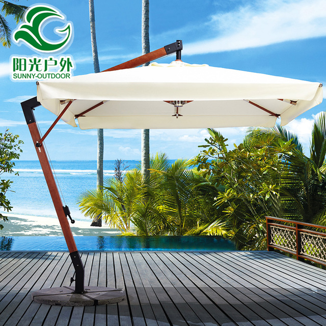 High End Outdoor Garden Patio Umbrella Villa Wood Indonesia , 7 Rome