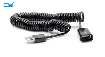 3M/10FT Black USB 2.0 A type male to female stretch data extension CABLE for PC Laptop USB 2.0 Extended line Cable 100PCS BY DHL