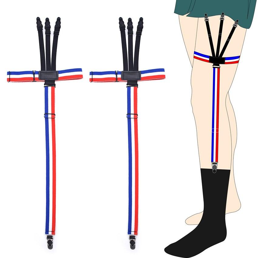 Man's Shirts Suspenders Sock Stays Skirt Holder Gentleman's Garters  Gourd Buckle Elastic Uniform Strap New Design