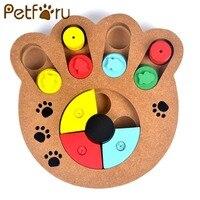 Petforu Multifunktionale Hunde Puzzle Spielzeug Umwelt Pfotenabdruck Form Lebensmittelbehälter Katzen Pet Feeder Pet Ausbildung Spielzeug