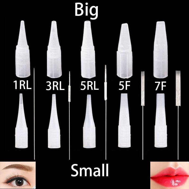 Image 3 - Professional 50PC Disposable needle + 50PC needle cap Universal Dermografo Micropigmentation Pmu Needles for Tattoo Machine Pen-in Tattoo Needles from Beauty & Health