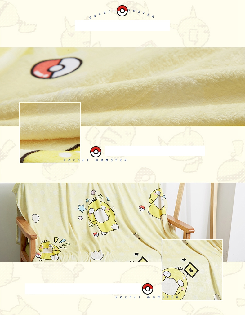 Anime Jk Japan Pikachu Tonari No Totoro Psyduck Madara Cosplay Flannel Blanket 1.5*2m Cartoon On Bed Plush Sleep Cover Bedding Costumes & Accessories Novelty & Special Use