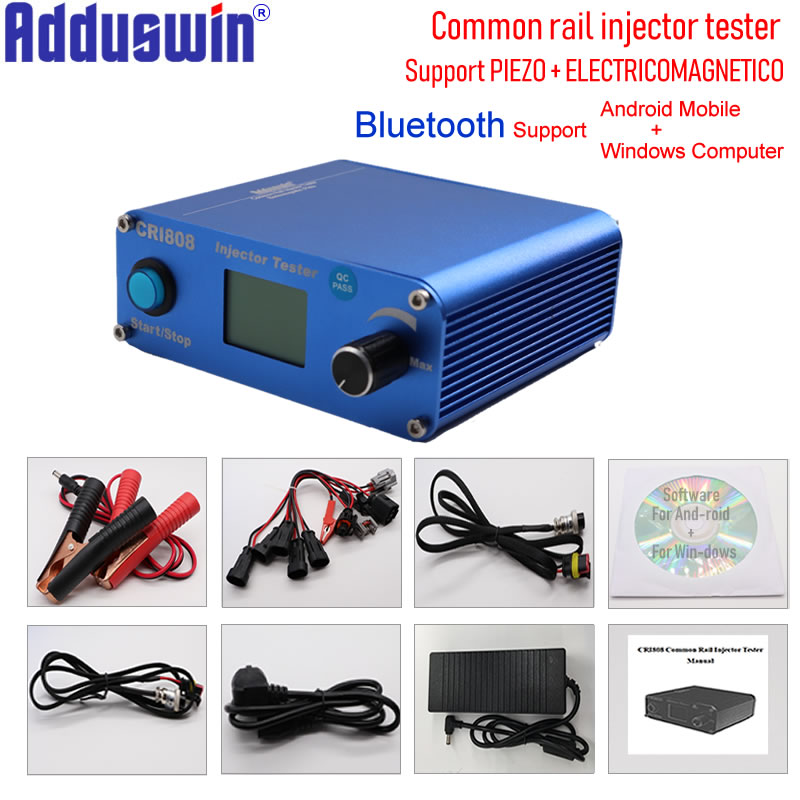Free Shipping CRI808 Multifunction Diesel common rail injector tester support electromagnetic and piezo bluetooth injector tools