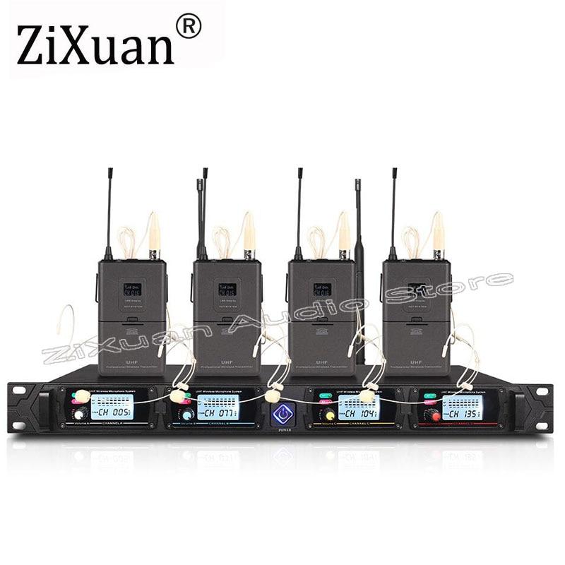 Wireless Mikrofon System G440 Professionelle 80 meter Vier Kanal UHF Dynamische Pro 4 Headset Mic Karaoke Party Bühne