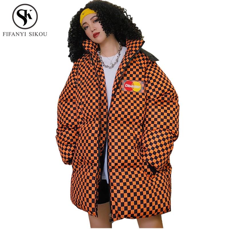 34606385d4b6 2018 New Winter Parka Fashion Hooded Coats Winter jacket women Streetwear  Cotton wadded jacket Loose Plus