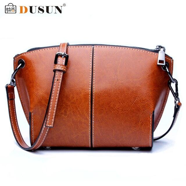 20418c599d80 DUSUN Shoulder Bags Women Designer Genuine Leather Messenger Bag Female  Vintage Fashion Crossbody Bags Woman Bolsa