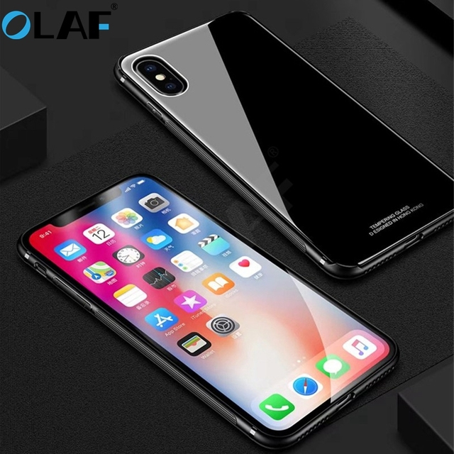 3bd20a75e90 Olaf Tempered Glass Protective Phone Case For iphone 8 7 6 6s plus Luxury  Slim Silicone TPU Hard Full Back Cover for iphone X 10