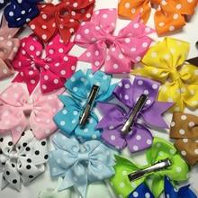 wholesale120pcs/lot  3″ Boutique Baby Girl Ribbon Hair Bows Clip Barrettes Hairgrip Pinwheel Bow For Children Hair Accessories