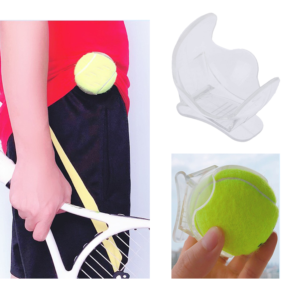 Pro Tennis Ball Holder Waist Clip Transparent, One-piece Design For Added Durability ABS Plastic 6.5 X 6.5 X 6.8 Cm