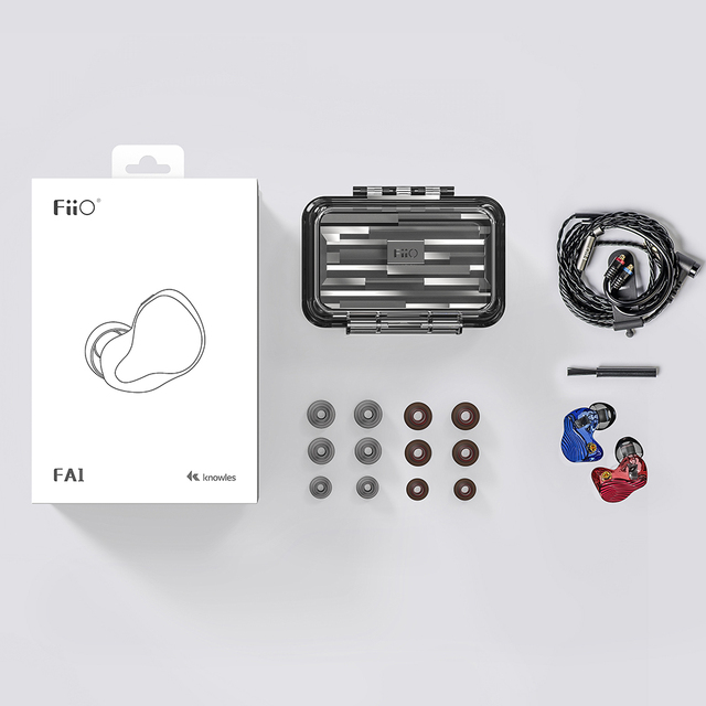 FiiO FA1 3D Printed Detachable Cable MMCX Design Single Driver Balanced Armature HIFI In-Earphone/Headphone for iOS and Android 5