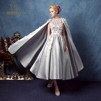 Высокие модные цветы для женщин жемчужное Бисероплетение накидка платье принцессы длинное платье плащ Подиум Серебряный Банкетный плащ ве