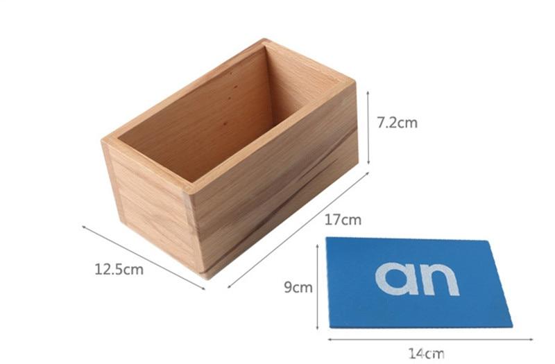 Купить с кэшбэком New Wooden Baby Montessori Letter Sand Board Baby Educational Toy Baby Gifts