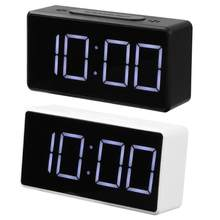 LED Digital Alarm Clock with USB Port Snooze Table Clock Electronic Clock Desk Alarm Clock USB Timer Calendar °C-℉ Thermometer(China)