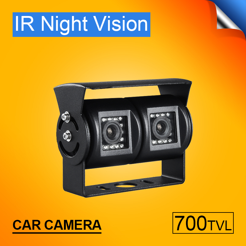 Outdoor Car Rear View Camera Security Car Parking System HD Dual Cam Reverse Camera Waterproof IR Night Vision Camera De Recul 700tvl hd metal dual rear view camera 1 3 ccd sony outdoor waterproof ir night vision for vehicle car dvr surveillance security