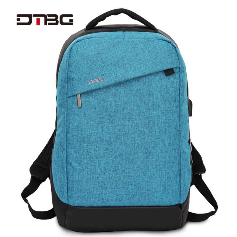15.6 Inch Laptop Backpack DTBG Anti Theft Smart Back Pack With USB Charging Port Zipper Solid Water Resistant Travel Bag School dtbg canvas backpack for 17 3 inch laptop smart travel rucksack with usb charging port anti theft plecak bagpack mochilas sac page 5