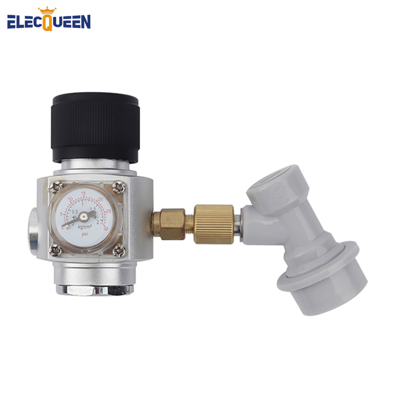 Homebrew CO2 Mini Gas Regulator with Corny Keg Gas Ball