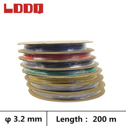 LDDQ 200m Heat shrink tube adhesive with glue 3:1 Wire wrap Cable sleeve Dia 3.2mm Shrinkable tubing Waterproof makaron kablo