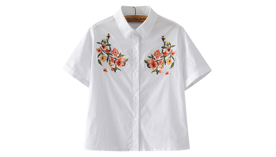 HTB1oaZ RpXXXXXTXVXXq6xXFXXXk - 2017 Women Brand flowers Embroidered Blouse white PTC 191