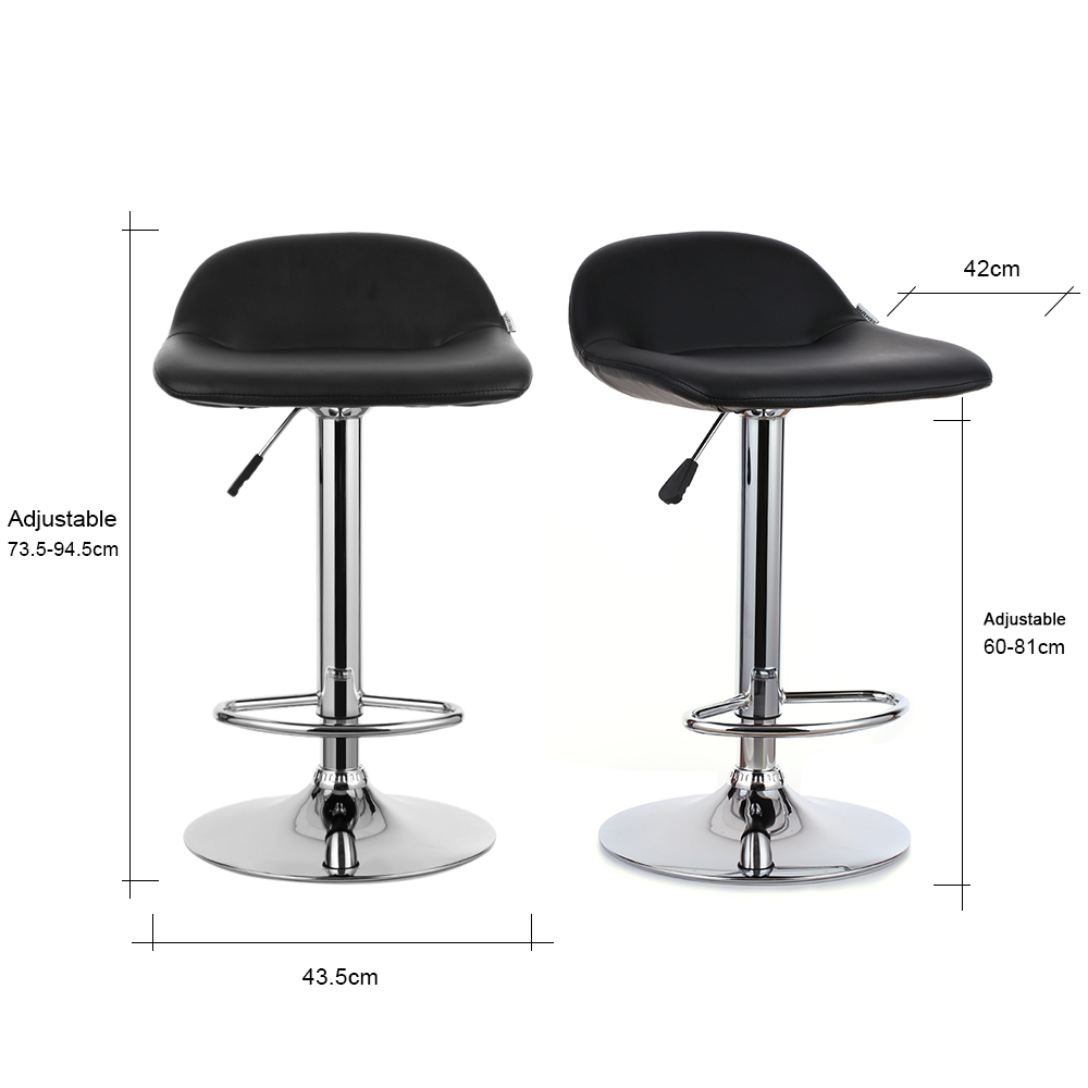 Bar Stool Height Us 69 99 50 Off Ikayaa Us Uk Fr Stock 2pcs Bar Stools Metal Pneumatic Swivel Bar Stools Chairs Height Adjustable Pub Counter Barstools In Bar Chairs