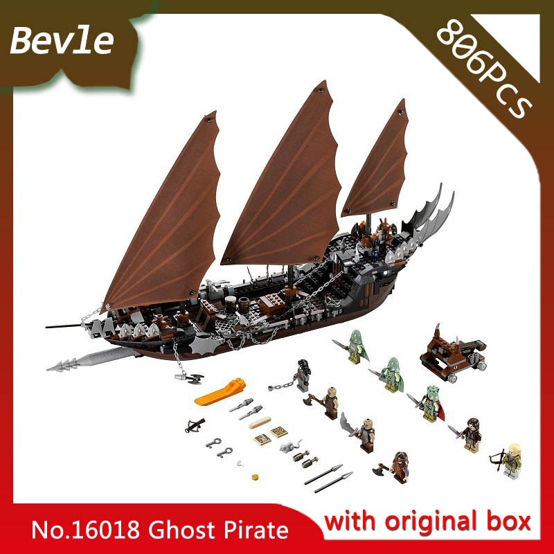 Bevle Store LEPIN 16018 756Pcs with original box Movie series Ghost pirate ship Model Building Blocks Bricks 79008 children Toys lepin 16018 756pcs genuine the lord of rings series the ghost pirate ship set building block brick toys compatible legoed 79008
