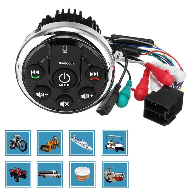 mofaner bluetooth motor boat motorcycle audio marine mp3 speaker waterproof  boat bass audio amplifier usb aux rca