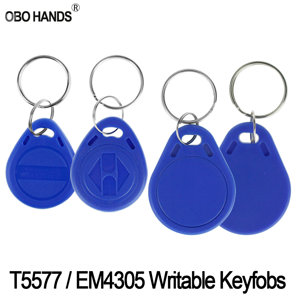 (pack Of 10/20/50/100) RFID 125KHz EM4305/T5577 Read And Rewritable Keyfobs Writable Keychains Access Control Key Card Token Tag