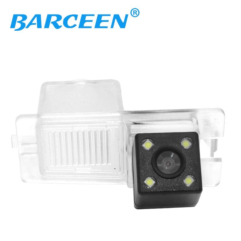 Promotie Hoogste nachtzicht 4 leds CCD HD waterdichte backup reverse parking auto achteruitrijcamera voor SsangYong Kyron Rexton II
