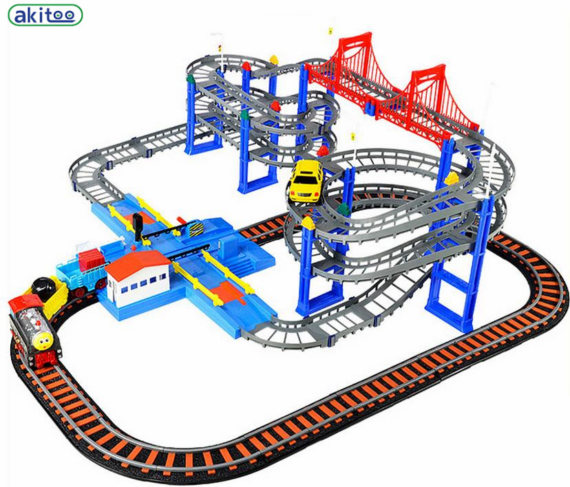New arrival akitoo 26288 Four layer combination track Thomas Small Train  Set Of Electric Rail Puzzle Toy Four Deluxe Edition-in Diecasts & Toy  Vehicles from ...
