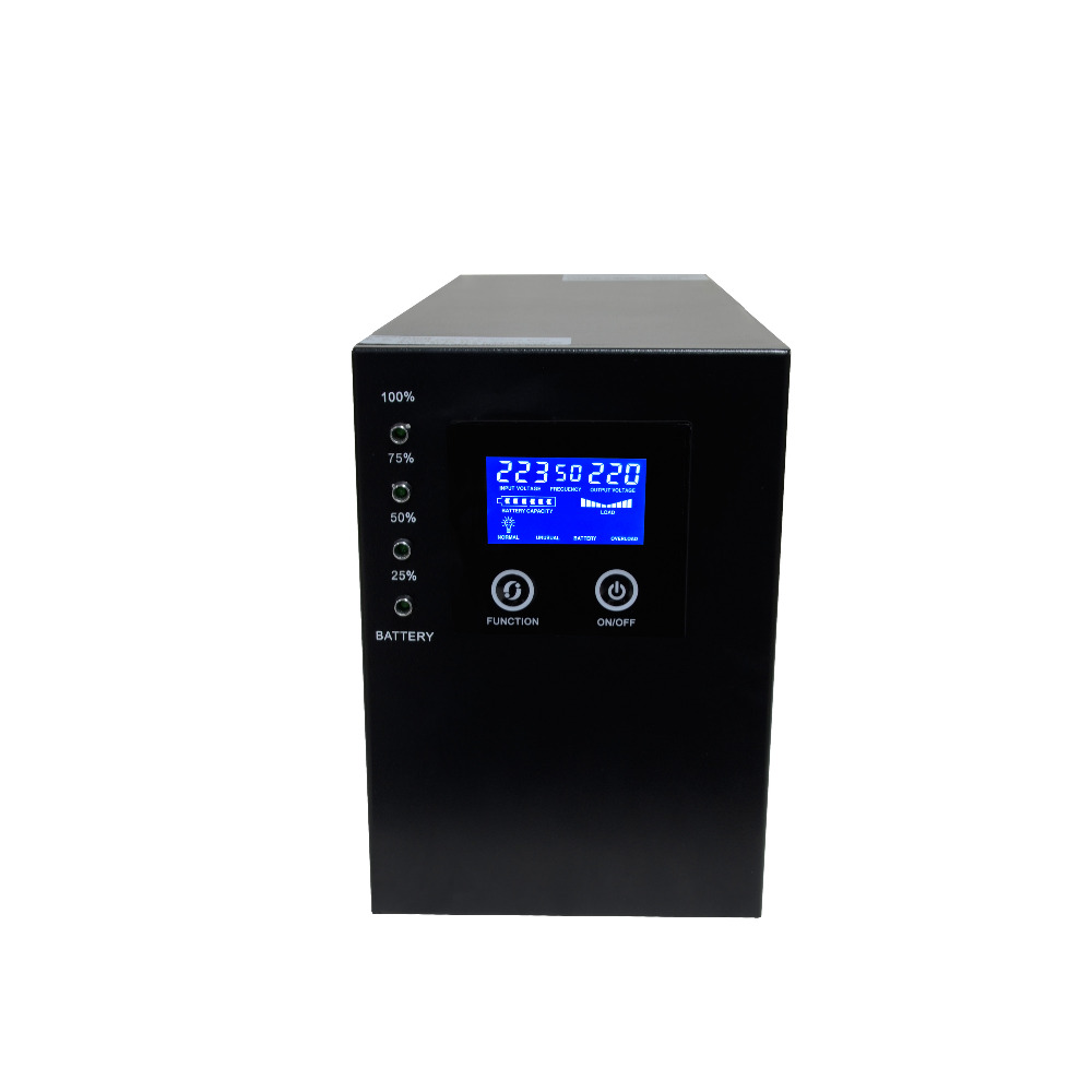 Industrial Level Low Frequency Pure Sine Wave Line Interactive UPS 1000VA 800W DC24V to AC220V 2kva 2000va 1600w smart lcd display pure sine wave line interactive ups industrial power supply