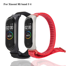 Mi band 3 strap bracelet Heart Rate Fitness Music Bluetooth Waterproof Smart Nylon loop sports for Xiaomi Band 4