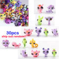 MINI Doll Lot 30PCS/bag Littlest Pet Shop Dog Loose  LPS Toys Animal Cartoon Cat Dog Action Figures Collection,random styles