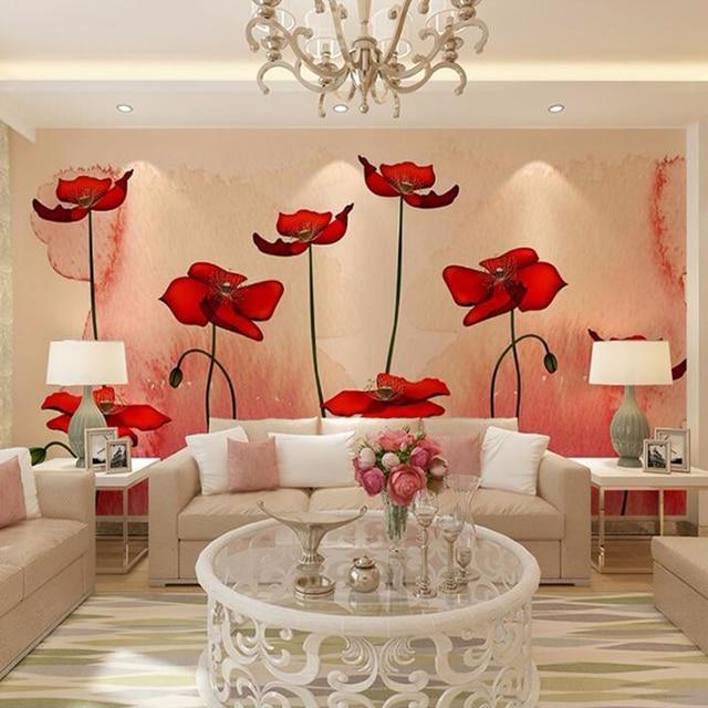 Custom 3D Photo Wallpaper Modern Pastoral Plant Flower
