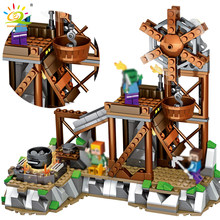 My World Mine Refinery Building Blocks Compatible Legoed Minecrafted City Figures Educational Luminous Brick Toys For Children(China)