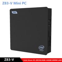 Z83 V Mini PC Intel Atom X5 Z8350 Intel HD Graphics 400 2.4GHz+5.8GHz WiFi 1000Mbps USB3.0 BT4.0 Windows 10