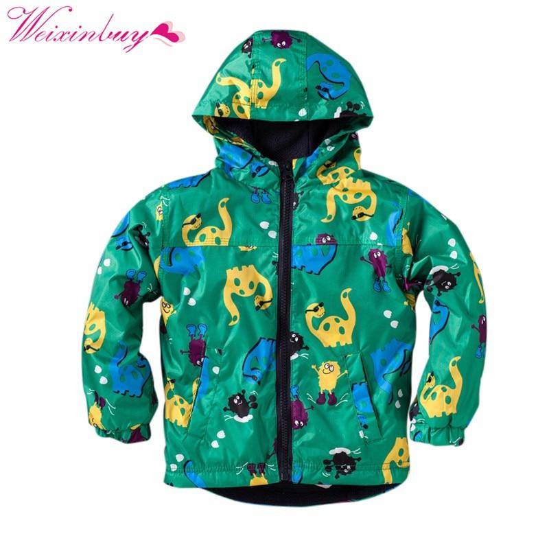 Детская куртка для мальчиков с изображением динозавра с капюшоном непродуваемая ветровка Пальто для будущих мам куртка одежда с рисунком О...
