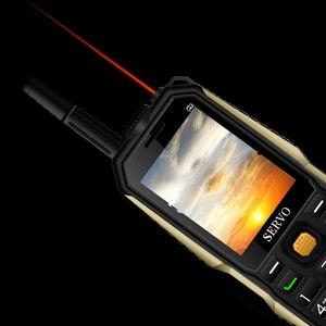 """Image 5 - Original Telefon SERVO P20 2,4 """"Quad Band 3 SIM Karte Handy GPRS TV Stimme Ändern Laser Taschenlampe Power Bank russische tastatur"""