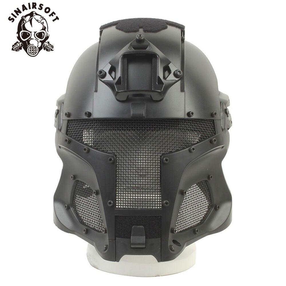 Casque tactique balistique militaire Rail latéral NVG Base de transfert bouton de cadran Sport armée Combat Airsoft masque de Paintball barre