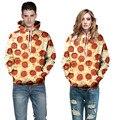 Новый Harajuku Мода Повседневная Кофты Мужская 3d толстовка Сыр Колбаса Пицца Толстовки Пуловеры графический кофты Негабаритных