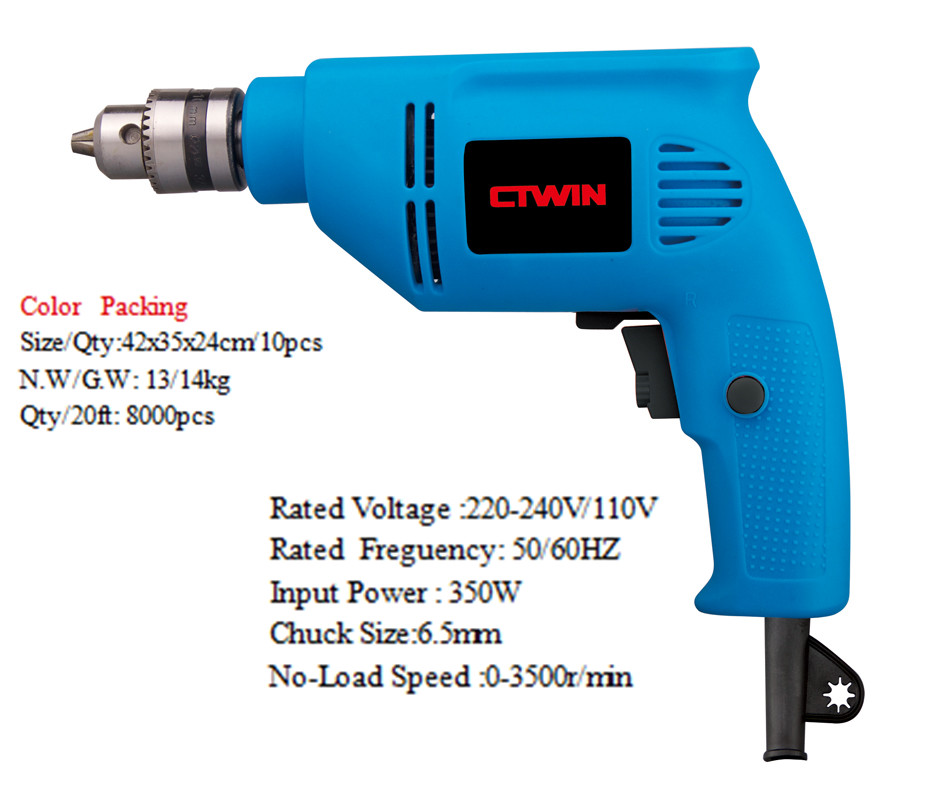 Impact Drill 350W 6.5MM Electric Power Tool Home Drieaction Rotary Of Good Price and Export Quality Drill качалка детская 4moms 4moms кресло шезлонг mamaroo 3 0 серый плюш