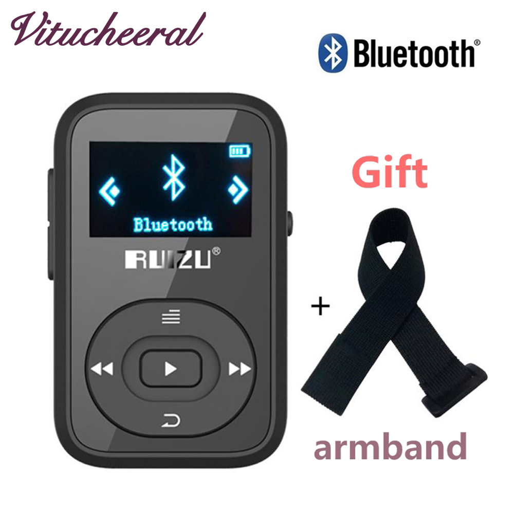 Original RUIZU X26 MP3 Player Bluetooth Walkman Mini Clip 8GB Can Play 30Hours sport running FM