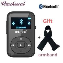 Оригинальный ruizu X26 MP3 плеер Bluetooth Walkman мини клип 8 ГБ может играть 30 часов Спорт Бег FM радио голос рекордер Mp3 повязки