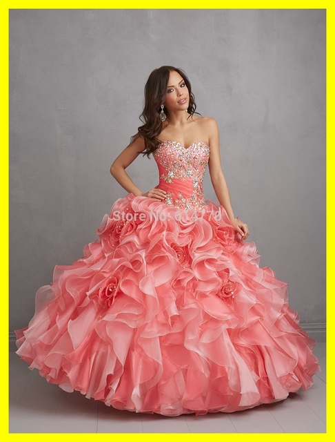 High Street Prom Dresses Panoply In San Antonio Edgy Pink Short Ball Gown  Floor-Length None Built-In Bra Ruffles Sw 2015 On Sale 2f287d19e391