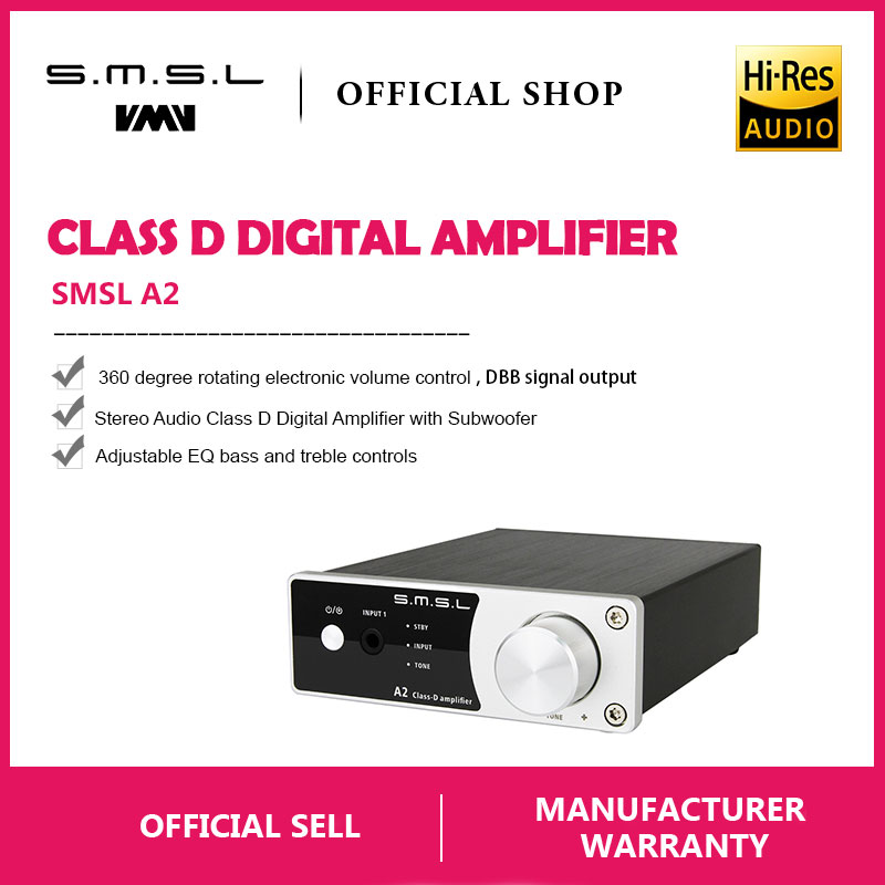 support 2 Rca Inputs And 3.5mm Headphone Jack Input Amplifier New Smsl A2 Audio Digital Home Theater Amplifier