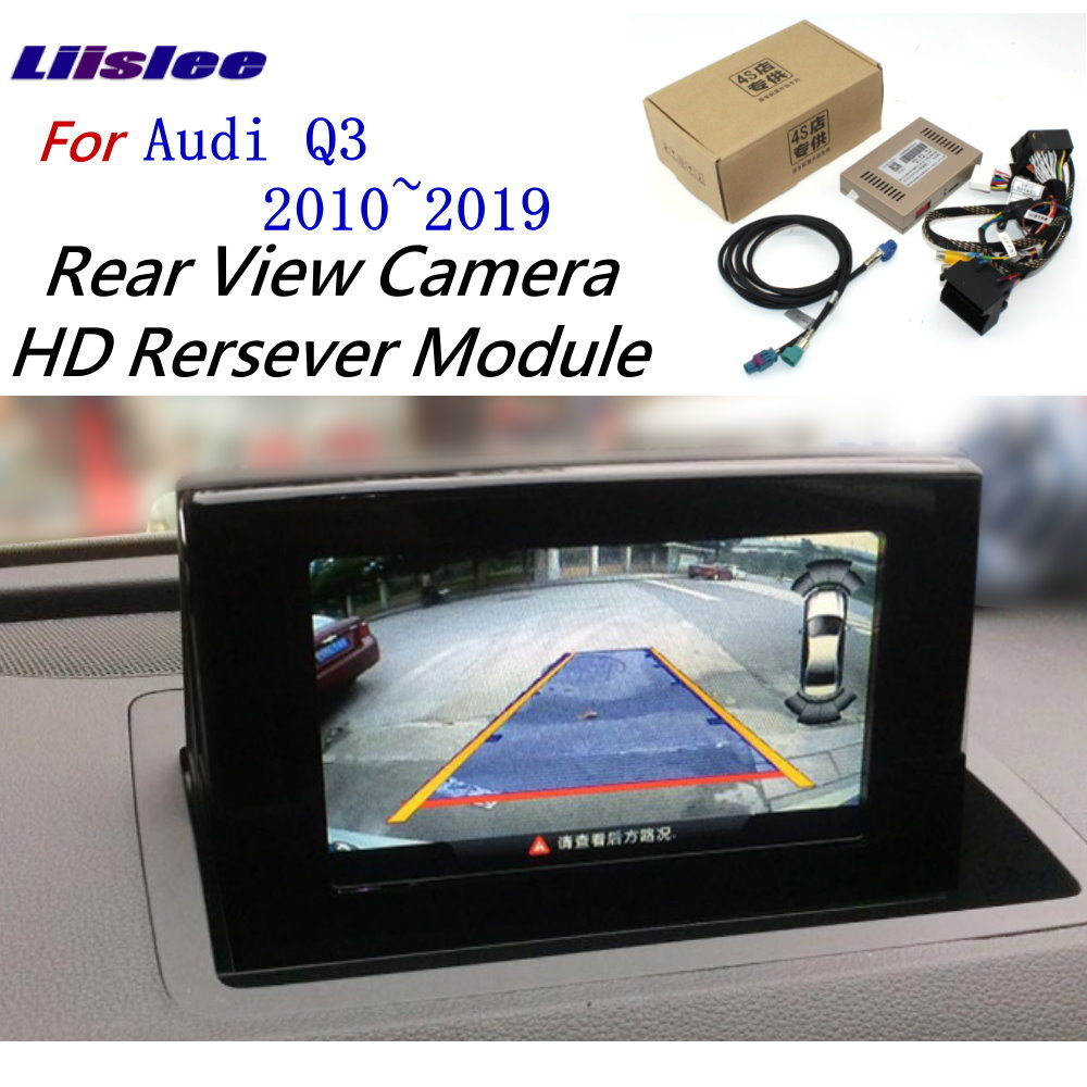 Liislee For Audi Q3 2010~2018 Front Rear View Reversing Camera Original screen upgrade Interface Adapter backup Camera Decoder(China)