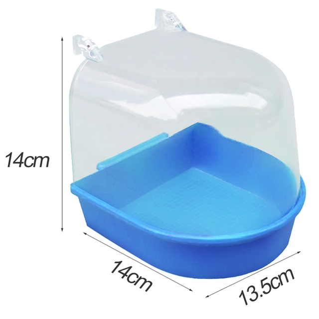 1Pc Plastic Bird Water Bath Box Bathtub Parrot For Parakeet Lovebird Finch Pet Cage Hanging Bowl Parakeet Birdbath 1