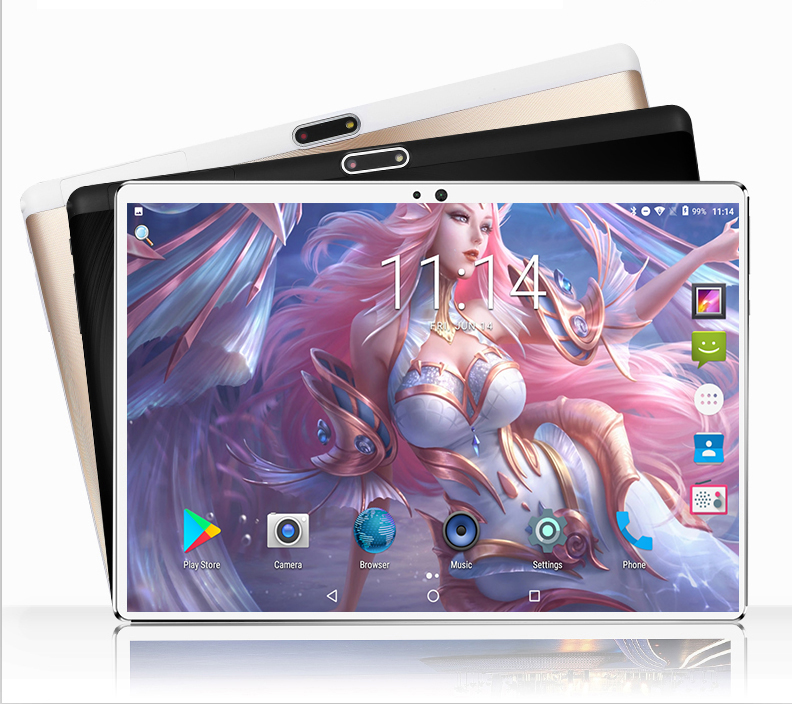 2020 Newest Version 10 inch Tablet PC Quad Core 1.5G RAM  32G ROM 1280*800 IPS 2.5D Tempered Glass GPS WiFi 10 10.1 Tablet+Gifts 1
