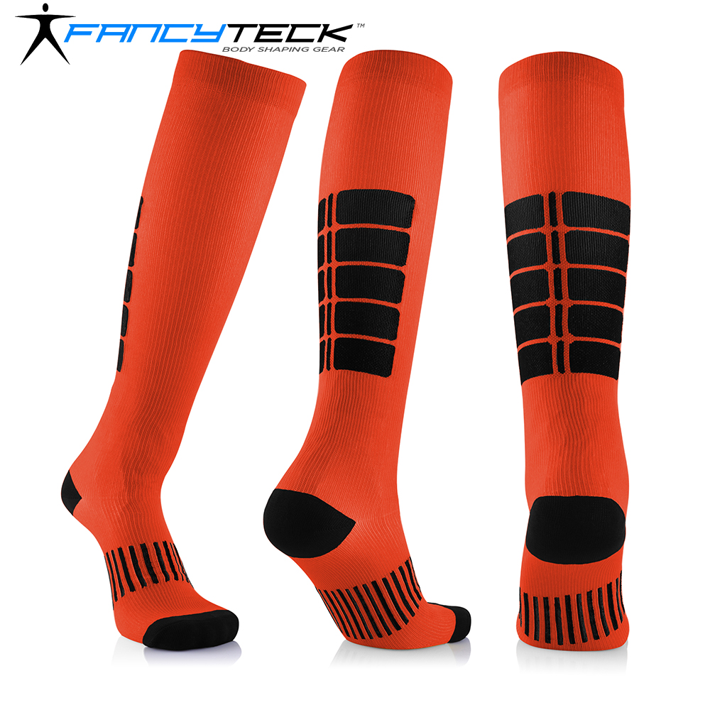 Fancyteck Unisex Compression Socks Cycling Antifatigue Medical Soothing Leg Relief Pain Anti Friction Breathable Running Socks