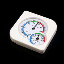 Mini Round Hygrometer Clock-shaped Pointer Type Indoor Outdoor Digital Hygrometer Humidity Temperature Meter Gauge protmex digital temperature humidity meter ambient wet bulb dew point temperature moisture tester thermo hygrometer